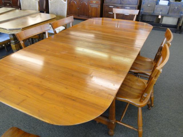 bissman solid walnut dining room table mid century modern